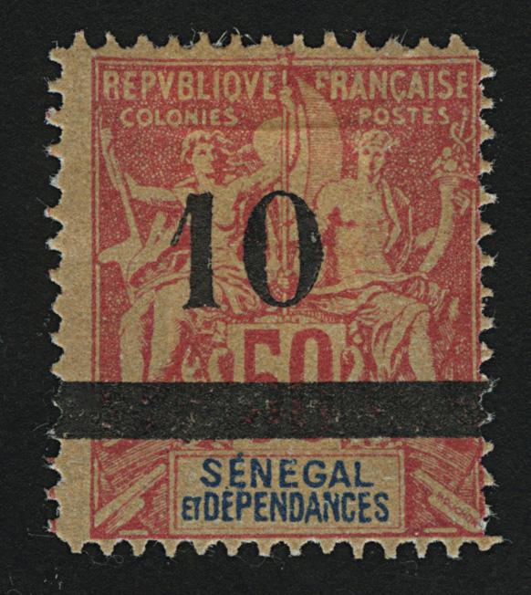 """1903. Сенегал. """"Navigation & Commerce - Inscription: """"SENEGAL DÉPENDANCES"""". *I [imp-13028_gt] 1"""