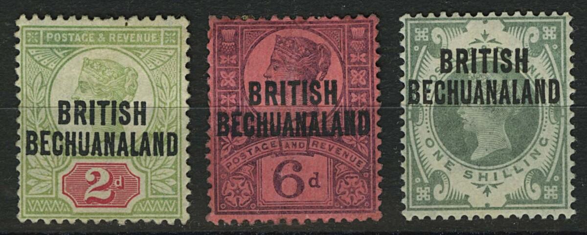 "1892. Британский Бечуаналенд. ""Great Britain Postage Stamps Overprinted"", *II/I [imp-13037_gt] 1"