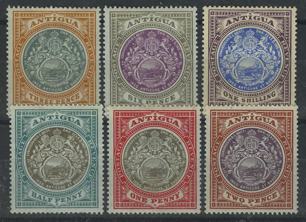 "1908. Антигуа. ""Seal of the Colony"", 6 шт., *II [imp-13041] 1"