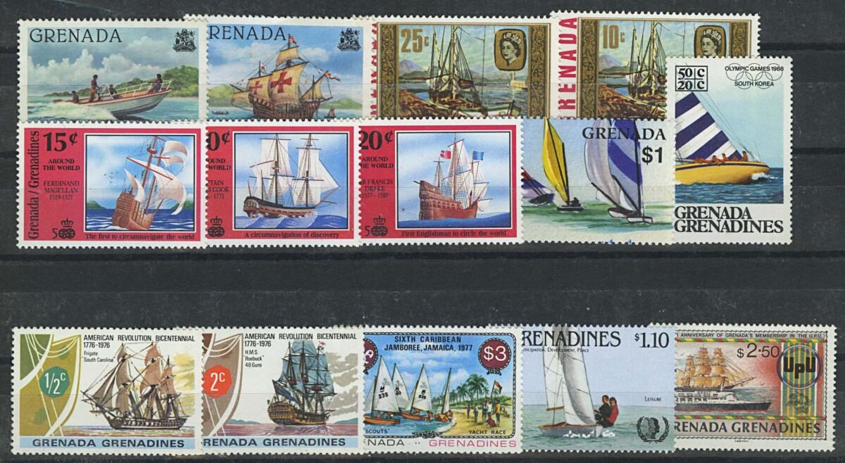 """Гренада. Набор """"Корабли"""".  14 м., **/* [imp-13049] 1"""