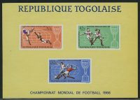 "1966. Того, ""Airmail - Winning Trophy of the Football World Cup in London"", ** [imp-13050] 3"