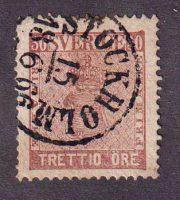 1858-1870 Швеция. Герб - значение в ÖRE [imp-12001_gt] 15