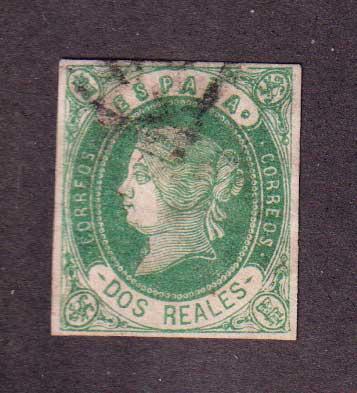 1862 Испания. Королева Изабелла - цветная бумага [imp-12010_gt] 1