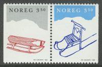 1994. Норвегия. Christmas stamps, сцепка, ** [imp-1070-1071] 7