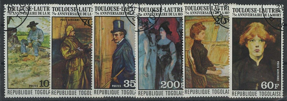 "1976. Того, ""75th Anniversary of French Painter Henri de Toulouse-Lautrec"", (//) [imp-13062] 1"