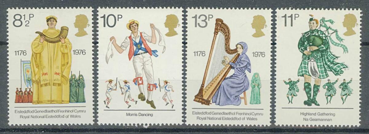 """1976. Англия. Серия """"British Cultural Traditions"""". 4/4, **I [imp-13078] 1"""