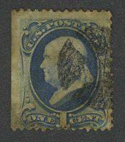 1873. США / USA. Benjamin Franklin, (•)II [imp-13096] 18