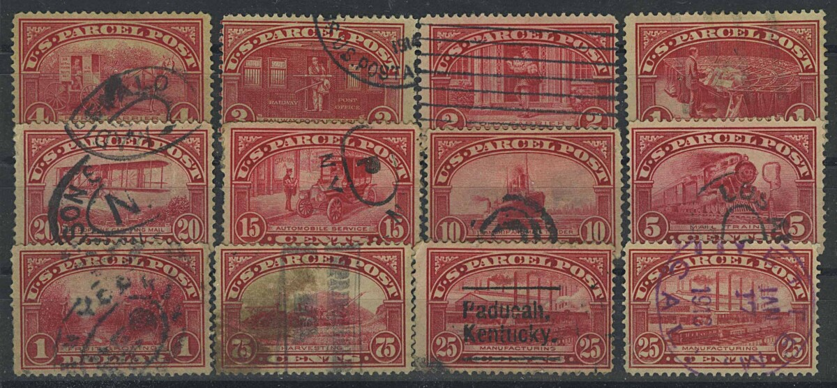 1913. США / USA. U.S. PARCEL POST, 12/12, (•) [imp-13097_gt] 1