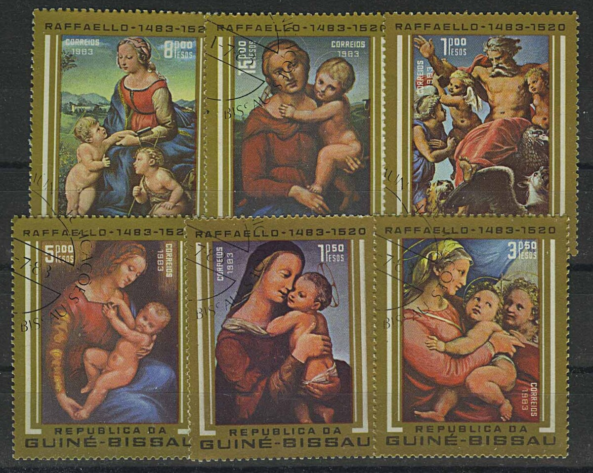 "1983. Гвинея-Бисау. Серия ""The 500th Anniversary of the Birth of Raphael, Artist, 1483-1520"". 6/7, (//) [imp-13110] 1"