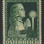 "1949. Австрия / Österreich. Серия ""Happy Childhood - Easter Bunny"", 1/4, *II [imp-13120] 3"