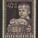 "1949. Австрия / Österreich. Серия ""Happy Childhood - Easter Bunny"", 1/4, *II [imp-13120] 2"