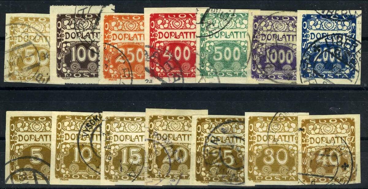 """1918. Чехословакия.  Серия """"Doplatit"""", 14/14., (•) [imp-13139] 1"""
