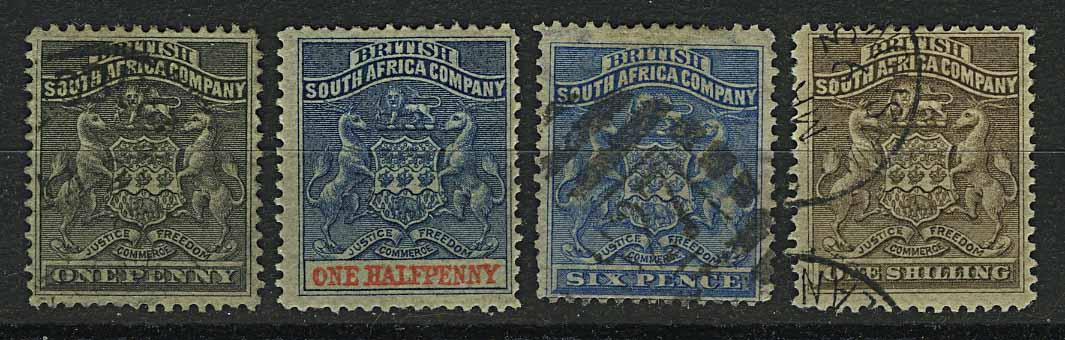 """1890-94. Британская Южно-Африканская Компания. """"Coat of Arms"""", (•)II [imp-13169] 1"""