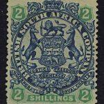 """1896. Британская Южно-Африканская Компания. """"Coat of Arms"""", (•)II [imp-13184] 3"""