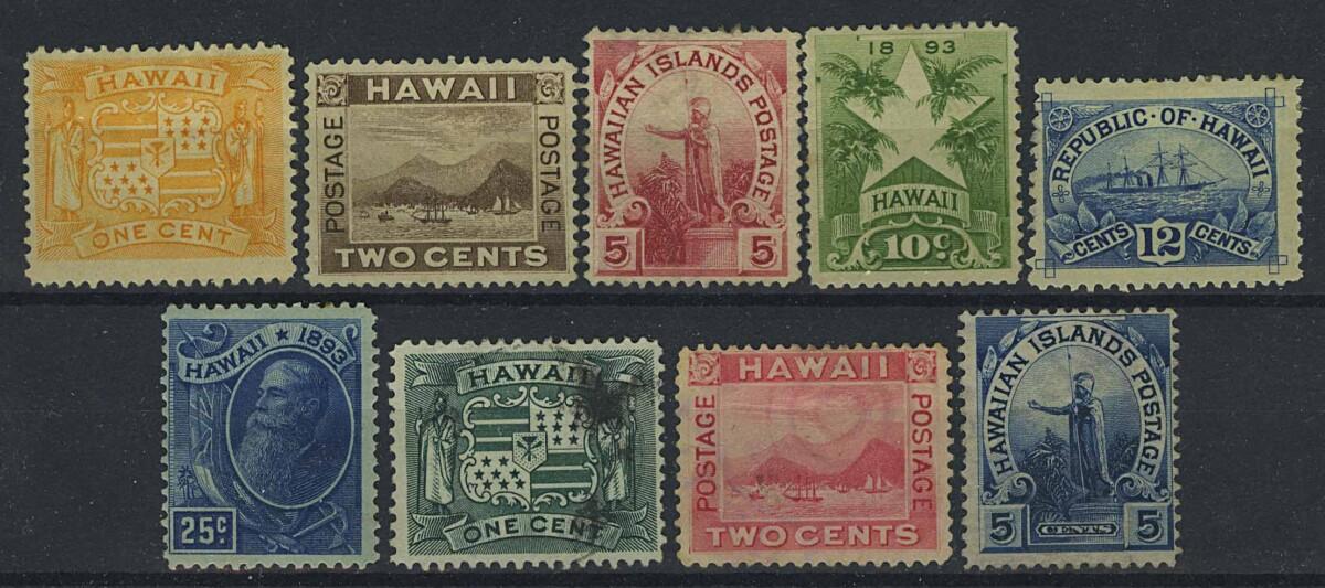 "1894, 99. Гавайи. Набор ""Local Motifs"", * (•) [imp-13188] 1"