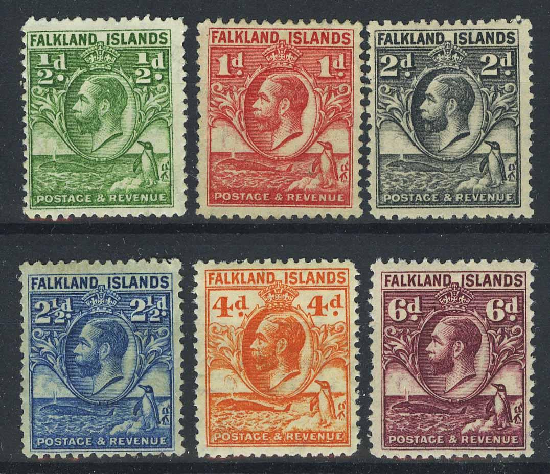 """1929-31. Фолклендские острова. """"King George V"""", *II [imp-13196] 1"""
