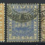 "1898-99. Британская Гвиана. Набор ""The 60th Anniversary of the Reign of Queen Victoria"", *II (•) [imp-13198] 2"