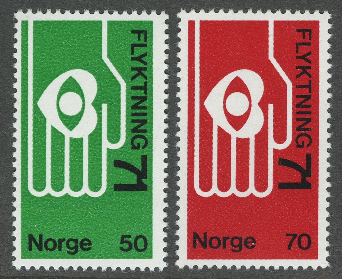 1971. Норвегия. Refugee 71, ** [imp-572-573] 1