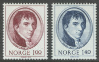 1973. Норвегия. The 200th anniversary of the birth of Jacob All, ** [imp-621-622] 7