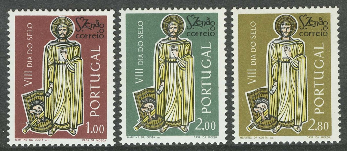"1962. Португалия. Серия: ""Day of the Stamps"", 3/3, ** [898-900] 1"
