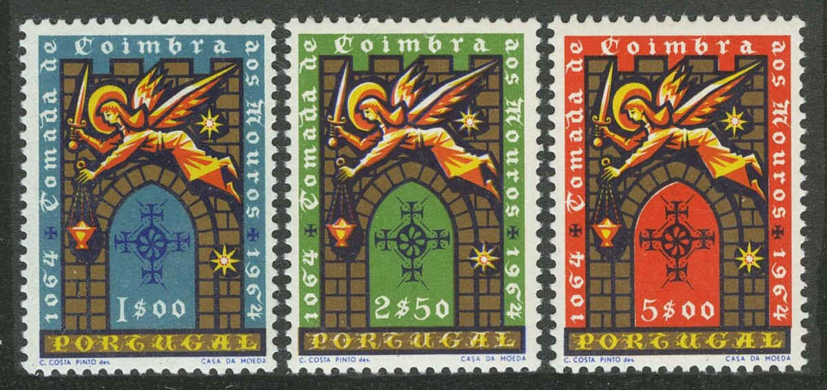 """1965. Португалия. Серия: """"The 900th Anniversary of the Relief of the City of Coimbra"""", 3/3, ** [947-949] 1"""