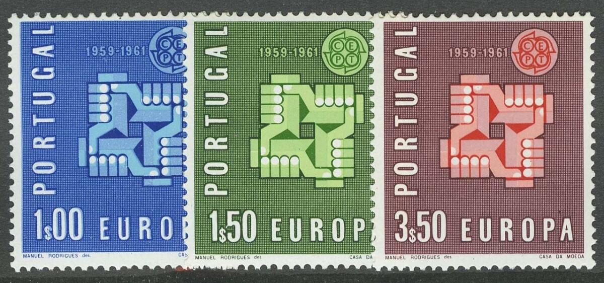 """1961. Португалия. Серия """"EUROPA Stamps"""", 3/3, ** [imp-875-77] 1"""