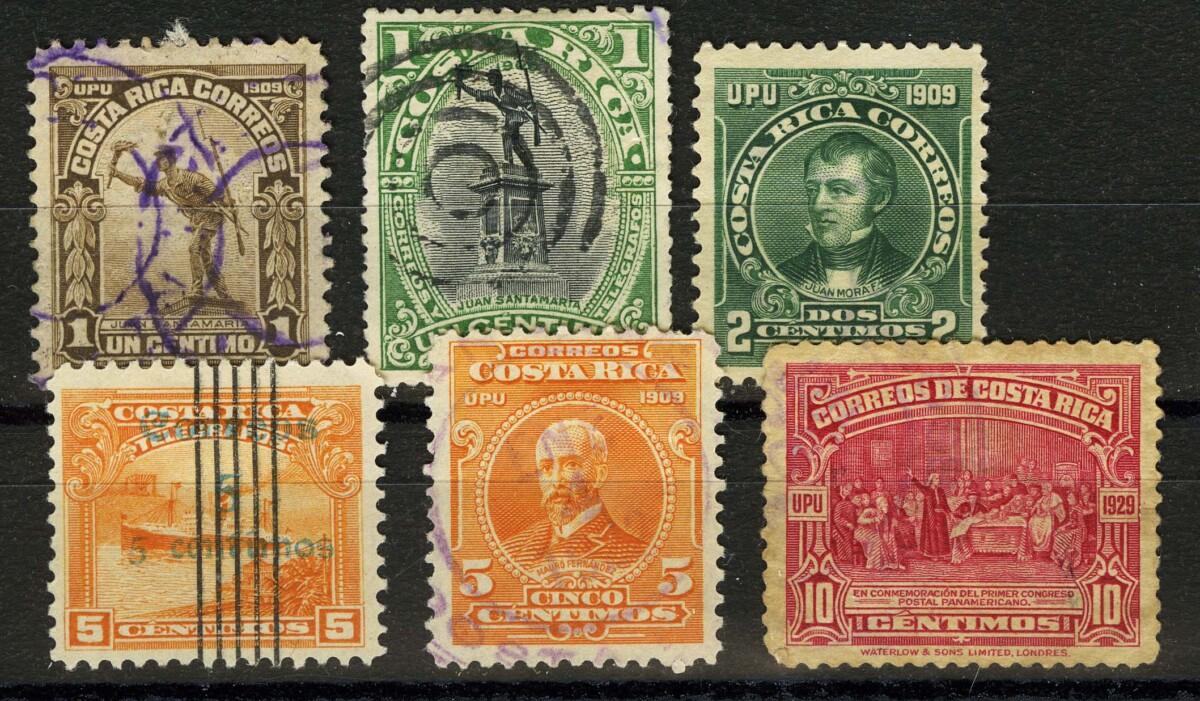1910-1923. Коста-Рика. */(•) [imp-13295] 1