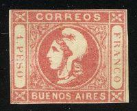 1862. Буэнос-Айрес. Голова Liberty, * [imp-13312] 10