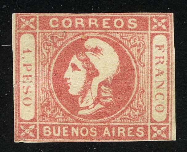 1862. Буэнос-Айрес. Голова Liberty, * [imp-13312] 1