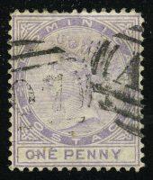 "1877. Доминика. ""Королева Виктория"", 1 Р, перф. 14, (•) [imp-13314] 13"
