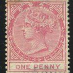 """1883. Доминика. """"Королева Виктория"""", набор с надпечаткой """"SPECIMEN"""" (ОБРАЗЕЦ) [imp-13325] 2"""