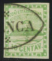 1858. Аргентина. Герб. 10С (•) [imp-13353] 6