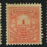 """1882. Аргентина. Ривадавия. ½/5C, надпечатка ½ """"PROVISORIO"""" (•) [imp-13395] 1"""