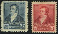 1892. Аргентина. Бернардино Ривадавия / Rivadavia