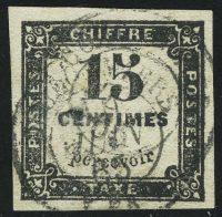 1863. Франция. Почтовая марка / ChiffreTaxe (налоговая, доплатная).