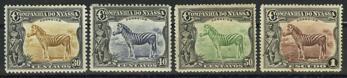 """1921-1923. Ньяса. Серия марок """"Зебры / Equus quagga"""""""