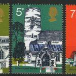 "Great Britain. Old Village Churches, 1972. Великобритания. Серия ""Старые деревенские церкви"""