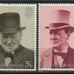 "Great Britain. Sir Winston Spencer Churchill, 1974. Великобритания. Серия ""Сэр Уинстон Спенсер Черчилль"""
