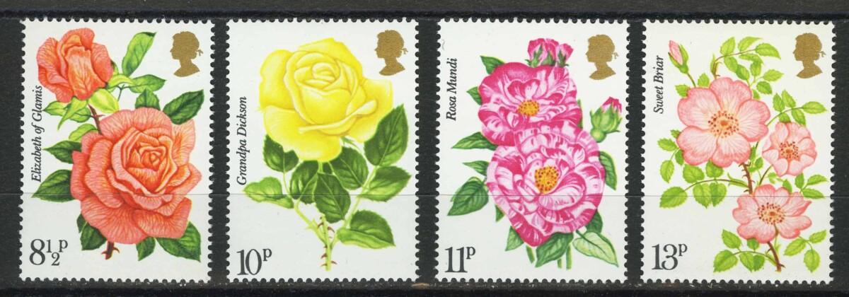 """The 100th Anniversary of the Royal National Rose Society, 1976. Великобритания. Серия """"100-летие Королевского национального общества розоводов"""""""