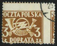 1946. Польша. Почтовый рожок