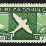 1939. Доминикана, Авиапочта - Всемирная выставка в Нью-Йорке,