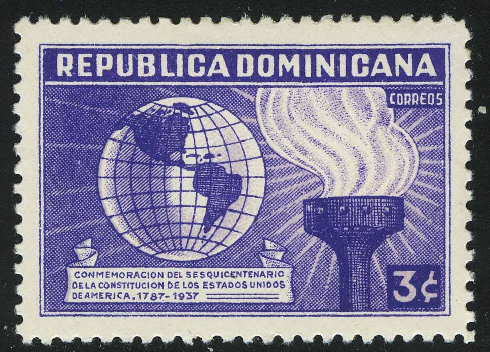 """1938. Доминикана. Серия """"150 лет Конституции США"""""""