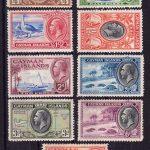 1935-1962 Каймановы острова. Король Георг V, Король Георг VI, Королева Елизавета II и местные мотивы [imp-13600] 2