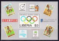 1988 Либерия. Олимпийские игры 1988 года - Сеул, Корея. [imp-13608_abr] 5