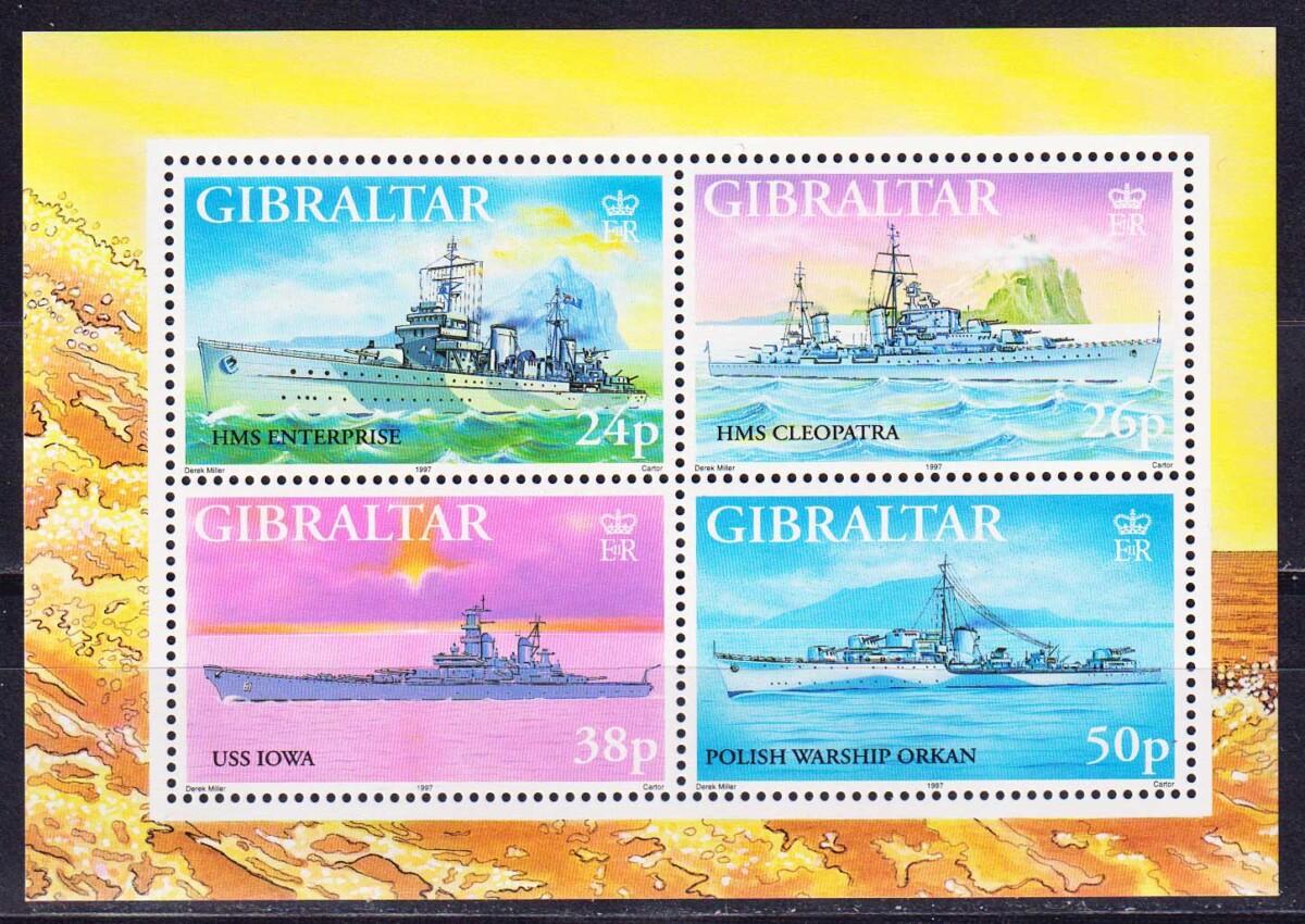 1997 Гибралтар. Военные корабли Второй мировой войны. [imp-14005_abr] 1