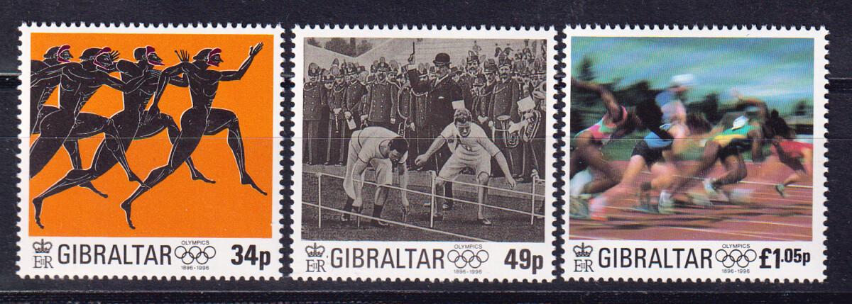 1996 Гибралтар. 100-летие современных Олимпийских игр [imp-14012_abr] 1