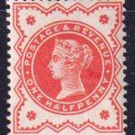 1887 - 1892 Великобритания. 50 лет регентству королевы Виктории. 1/2 пени. [imp-14072_gb] 4