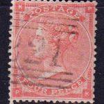 1862 Великобритания. Королева Виктория - Маленькие белые контрольные буквы в углах. 4 пенса. [imp-14086_gb] 2