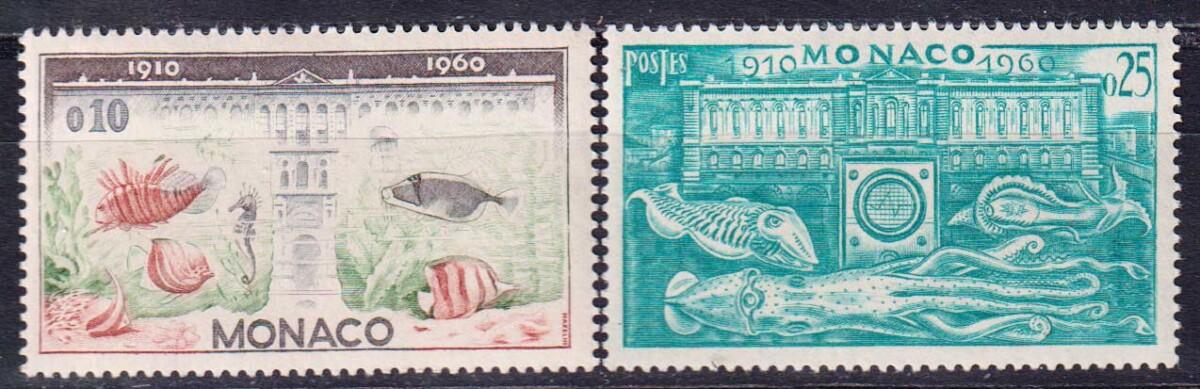 1960 Монако. 50 лет Океанографическому музею, Монако [imp-14101] 1
