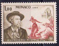 1964 Монако. 50 лет со дня смерти Фредерика Мистраля [imp-14109] 4
